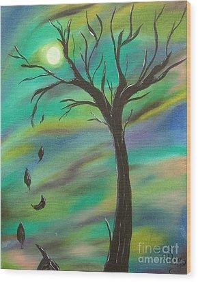 Tim Burton Tree Wood Print by Sesha Lee