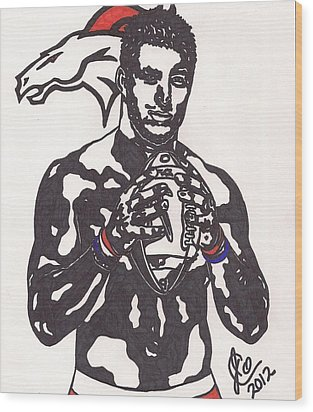 Tim Tebow 2 Wood Print by Jeremiah Colley