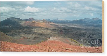 Timanfaya Panorama Wood Print by Delphimages Photo Creations