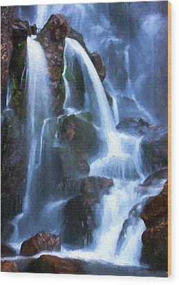 Timberline Falls Wood Print