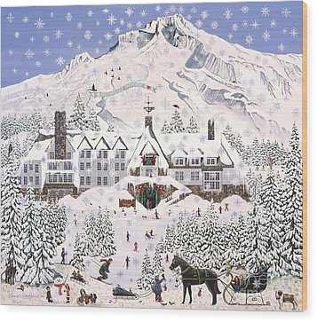 Timberline Lodge Wood Print