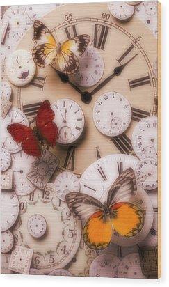 Time Flies Wood Print by Garry Gay