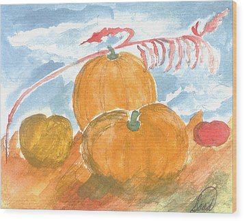 Wood Print featuring the painting Time For Harvest by Saad Hasnain