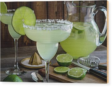 Wood Print featuring the photograph Time For Margaritas by Teri Virbickis