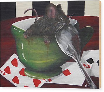 Time For Tea Wood Print by Meagan  Visser