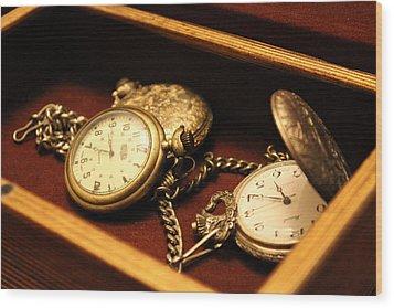 Time In A Box Wood Print
