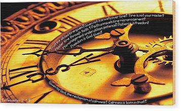 Time Management Wood Print