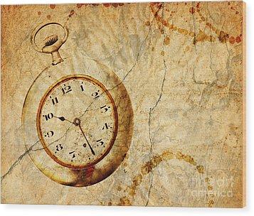 Time Wood Print by Michal Boubin