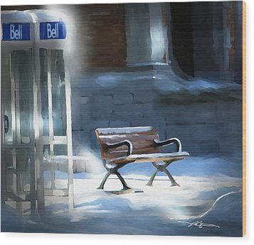 Time Passages - Call Waiting Wood Print by Bob Salo