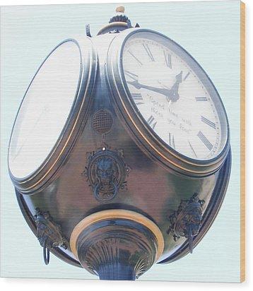 Time Piece Wood Print