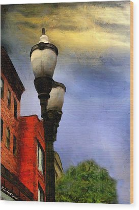 Time To Light The Lamps Wood Print by RC deWinter