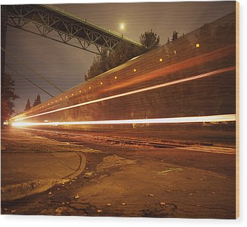Time Train Wood Print by Benjamin Garvey