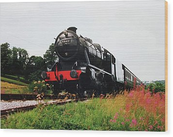 Wood Print featuring the photograph Time Travel By Steam by Martin Howard