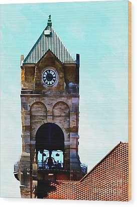 Wood Print featuring the photograph Time Will Tell - Scranton by Janine Riley