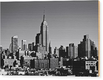 Timeless - The Empire State Building And The New York City Skyline Wood Print by Vivienne Gucwa