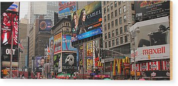Times Square 4 Wood Print by Andrew Fare