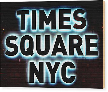Times Square 4 Wood Print by NDM Digital Art