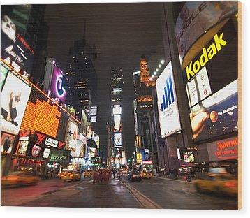 Times Square Wood Print by John Gusky