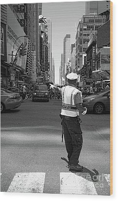 Times Square, New York City  -27854-bw Wood Print