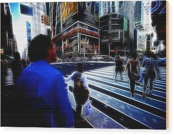 Times Square New York City Wood Print by Lawrence Christopher