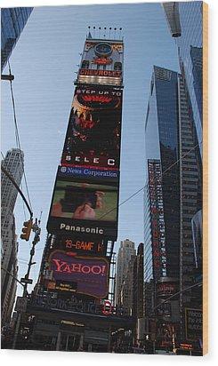 Times Square Wood Print by Rob Hans