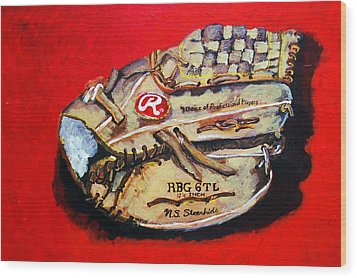 Tim's Glove Wood Print by Jame Hayes