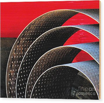 Tin Abstract Wood Print by Gary Everson