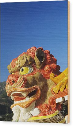Tin Hua Temple Wood Print by Gloria & Richard Maschmeyer - Printscapes