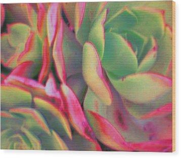 Tinted Clusters Wood Print