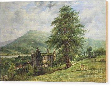 Tintern Abbey  Wood Print by Frederick Waters Watts