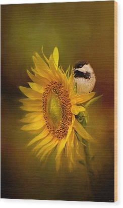 Tiny Surprise Bird Art Wood Print