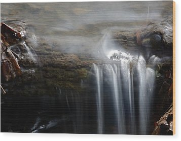 Tiny Waterfall Wood Print