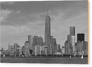 Tip Of Manhattan Wood Print