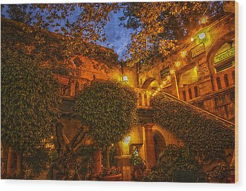 Tlaquepaque Evening Wood Print by Laura Pratt