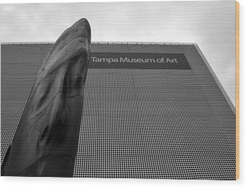Wood Print featuring the photograph Tampa Museum Of Art Work A by David Lee Thompson