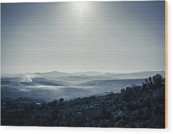 To A Peaceful Valley Wood Print by Andrea Mazzocchetti