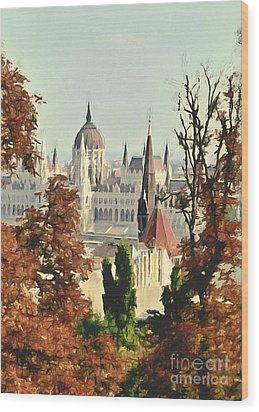 To Budapest With Love Wood Print