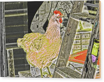 To Climb The Corporate Ladder . . . Wood Print by Gina O'Brien
