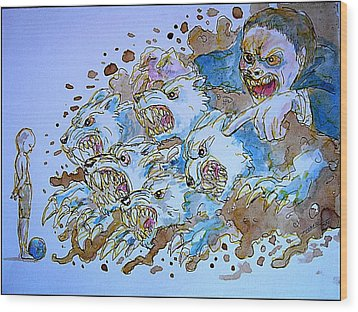 To Corrupt The Innocence Wood Print by Paulo Zerbato
