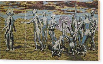 To Dance Wood Print by Leo Mazzeo