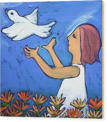 To Fly Free Wood Print by Winsome Gunning
