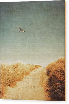 To The Beach Wood Print by Wim Lanclus