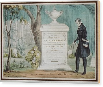 To The Memory Of William H. Harrison Wood Print by Everett
