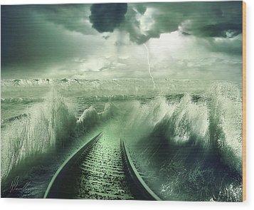 To The Sea Wood Print by Svetlana Sewell
