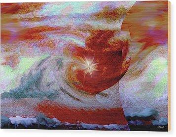 To The Stars Wood Print by Linda Sannuti
