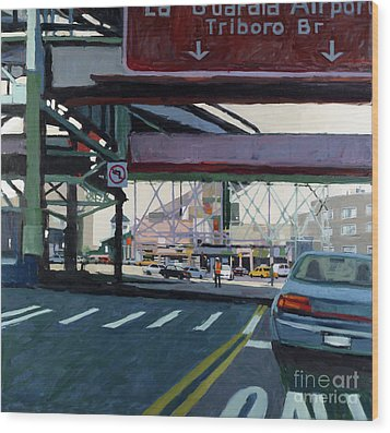 To The Triboro Wood Print by Patti Mollica