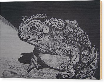 Wood Print featuring the mixed media Toad by Jude Labuszewski
