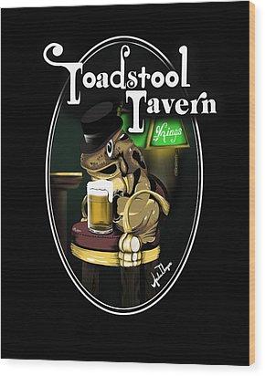 Toadstool Tavern  Wood Print