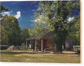Tobacco Barn Wood Print by Christopher Holmes