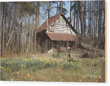 Wood Print featuring the photograph Tobacco Barn In Spring by Benanne Stiens